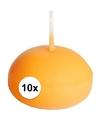 Oranje drijfkaarsen