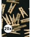 Mini gouden knijpertjes 20 stuks