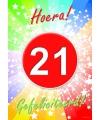 21 jaar thema deurposter