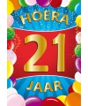 21 jaar thema mega deurposter