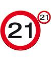 Verkeersborden placemats 21 jaar