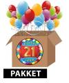 21 jaar party artikelen pakket