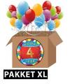 4 jaar party artikelen pakket XL