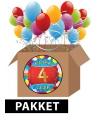 4 jaar party artikelen pakket