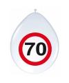 Verkeersborden ballonnen 70 jaar