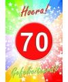 70 jaar thema deurposter