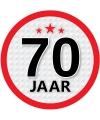 Luxe 70 jaar stickers