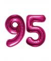 Opblaas 95 jaar ballonnen roze