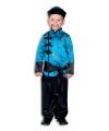 Blauwe jongens kimono met broek