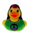 Hippie vrouw badeendjes 5 cm