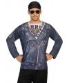 Carnavalskleding outlaw biker shirt