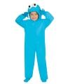 Kinder carnavalskleding monster blauw