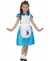 Kinderkostuum blauwe prinsessenjurkje voor meisjes