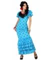Voordelige blauwe Spaanse jurk