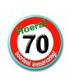 70e verjaardag button stopbord