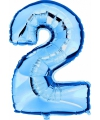 Cijfer ballon in blauw 2