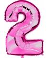 Cijfer ballon in roze 2