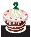 Cijfer kaarsen 2 jaar