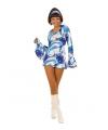 Carnavalskleding Hippie jurk dames blauw