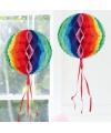 Decoratiebollen in regenboog kleuren