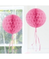 Decoratiebollen baby roze 30 cm