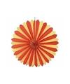 Rood/geel decoratie waaiers 60 cm