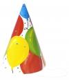 Verjaardag hoedjes ballonnen van papier 6x