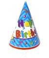 Verjaardag hoedjes van papier 6x