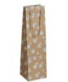 Goud glitter kadotasje met sterren 11 x 36 cm