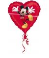 Rode Mickey Mouse folie ballon