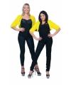 Pluche geel jasje voor dames