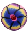 Hippie chunk met bloem paars 1,8 cm