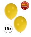 15 Party ballonnen geel gekleurd