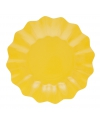 Gele diepe paas borden 21 cm