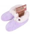 Lila paarse dames pantoffels met bontvoering
