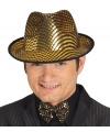 Gouden maffia hoed voor heren