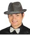 Zilveren maffia hoed voor heren
