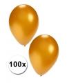 100 gouden feest ballonnen