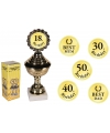Golden trophy with stickers