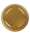Wegwerp bordjes goud 23 cm