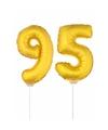Opblaasbare cijfer 95 goud 41 cm