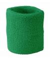 Pols zweetbandjes groen