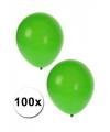 Knal groene feest ballonnen 100 st