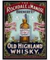 Wandplaatje whiskey Rochdale en Manor
