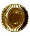 Gouden kartonnen borden 29 cm