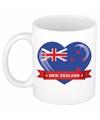Nieuw Zeelandse vlag hart mok / beker 300 ml
