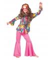 Blouse hippie bloemen voor kinderen