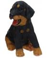Stenen Rottweiler puppy zittend 23 cm