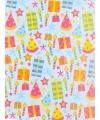 Cadeaupapier feesthoedjes 70 x 200 cm