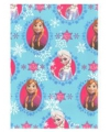 Inpakpapier Elsa en Anna blauw